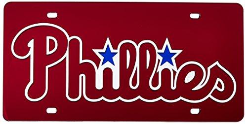 Rico Industries Philadelphia Phillies Laser Cut Red License Plate