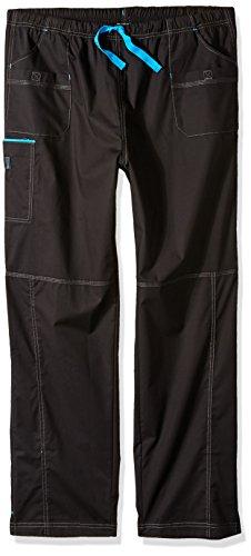 WonderWink Women's Plus Size Wonderflex Joy Denim Style Staight Leg Scrub Pant, Black, 2X-Large Tall ()
