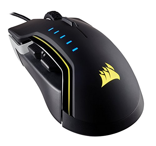 Corsair CH-9302011-NA GLAIVE RGB Gaming Mouse, Backlit LED, 16000 DPI, Optical