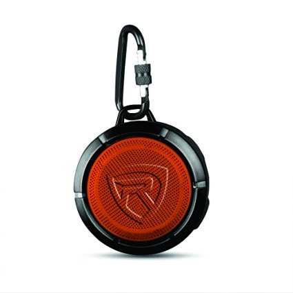 Rockville Speaker for iPhone, Android, Any Smartphone with Bluetooth - Black/Orange