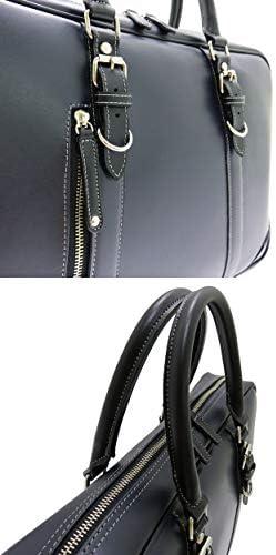パトリック二本手ビジネスバッグ(ブラック色)本革付属 鞄の聖地兵庫県豊岡製 日本製 雨や汚れに強い クラッシックな雰囲気 究極の一品 +[栃木レザー] 日本製キーストラップ
