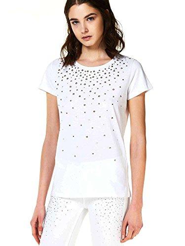 Liu Jo W18098J5371 T-Shirt Femmes Blanc M