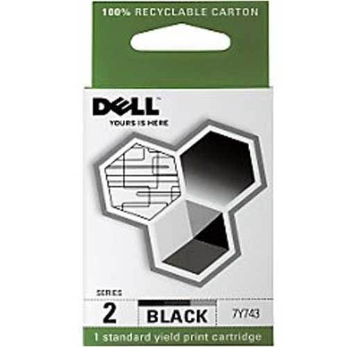 Dell Computer 7Y743 2 Standard Capacity Black Ink Cartridge for A940/A960 {High Resolution} (Dell Series 2 Black Ink Cartridge 7y743)
