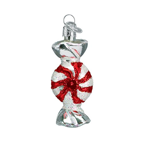 (Old World Christmas Ornaments: Peppermint Candy Glass Blown Ornaments for Christmas Tree)