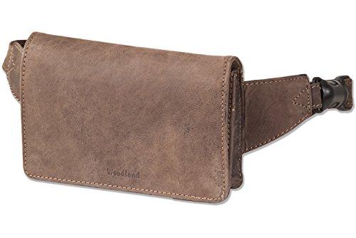 Woodland La Cintura De En Compacto Lujo Bien Paquete Café Extremadamente Tratar Taupe Sin Buff Plana Color qHqxS