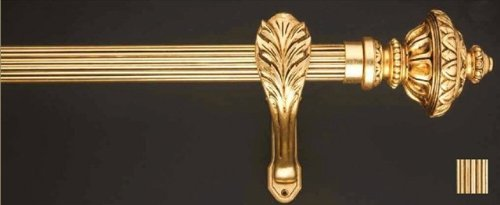 WinarT USA 8.1185.45.25.360 Palas 1185 Curtain Rod Set - 1.75 in. - Burnished Gold - 141 in. from WinarT USA