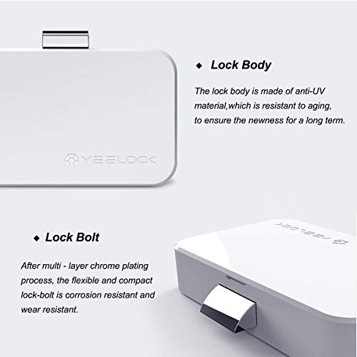 Cabinet Lock, Keyless Smart Lock for Drawer and Cabinet Bluetooth Smart Lock Perfectly for Bookcase, Bedside Table or Filing Cabinet, Support Android/iOS APP Unlock, Authorized Electric Key by YEELOC (Image #8)