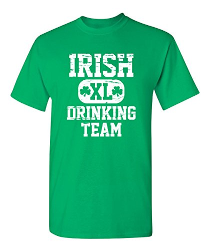 Feelin Good Tees Irish Drinking TeamSt. Patrick's Day Saint Paddy Funny T Shirt M Irish Green