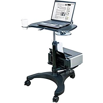 amazon com aidata ergonomic sit stand mobile laptop cart