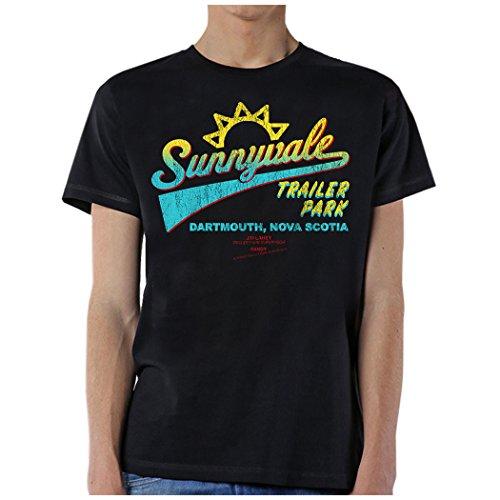 Trailer Giant Little - GLOBAL Trailer Park Boys Men's Sunnyvale Front T-Shirt,Black,XX-Large