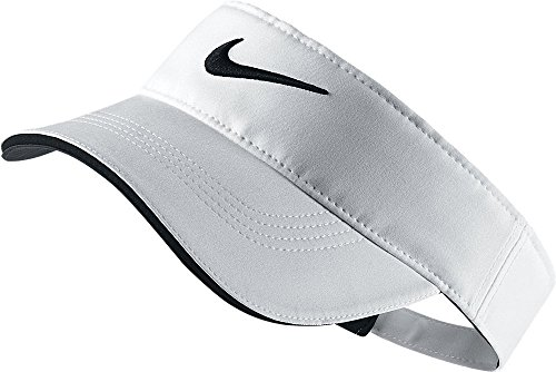 (Nike Golf Tech Visor, White, Adjustable)
