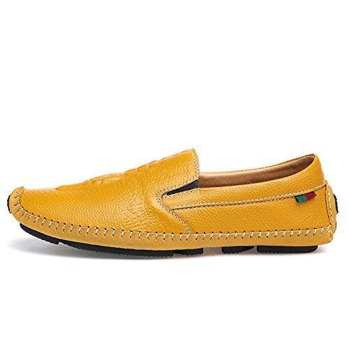 Miyoopark - Mocasines de Piel para hombre amarillo