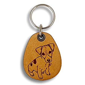 ForLeatherMore - Jack Russell Terrier - Genuine Leather Keychain - Pet Key Fobs 1