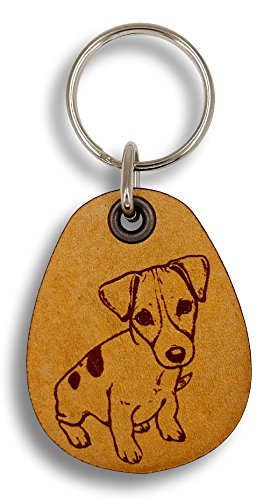 ForLeatherMore - Jack Russell Terrier - Genuine Leather Keychain - Pet Key Fobs