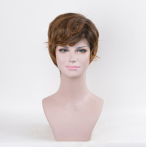 Price comparison product image Fantastic Beasts and Where the same paragraph oblique bangs brown anti-Alice short hair wig repair face Men