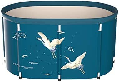 バスタブ ダブルドレンコック付き折りたたみ式浴槽、ポータブルサイズは大人用入浴槽、独立型保温浴槽、100x77x56cm 浴槽