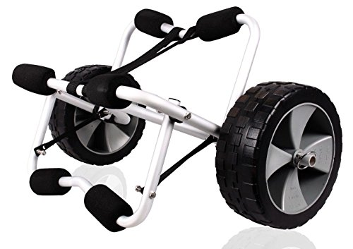 Deluxe Boat Kayak Canoe Carrier Dolly Trailer Tote Trolley Transport Cart Wheels by New Unbrand