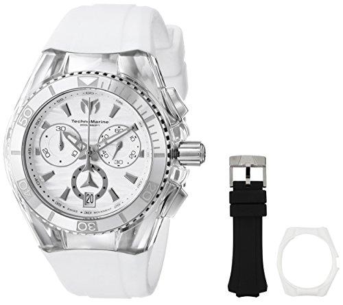TechnoMarine Unisex 114035 Cruise Original Analog Display Swiss Quartz White Watch
