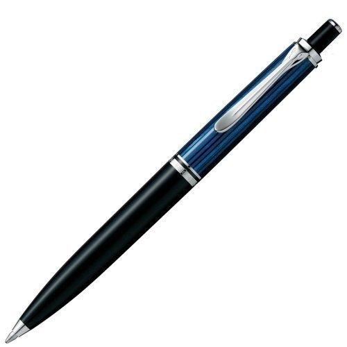 Pelican [Pelikan] Suberen Silver trim 405 ballpoint pen knock type K405 Blue stripes -  Pelkan, K405 ブルー