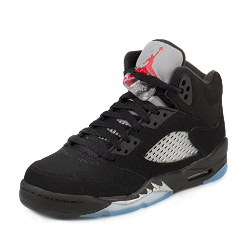 Kids Air Jordan 5 V Retro OG (GS) Metallic Silver - Black - Fire Red - White US 5.5y