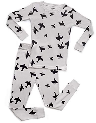 Leveret Organic Cotton Bird 2 Piece Pajama Set 3 Years