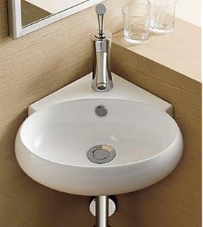 Stylish And Modern Corner Small Hand Wash Cloakroom Basin Sink 1