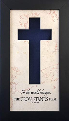 The Cross Stands Firm Silhouette Cross Plaque