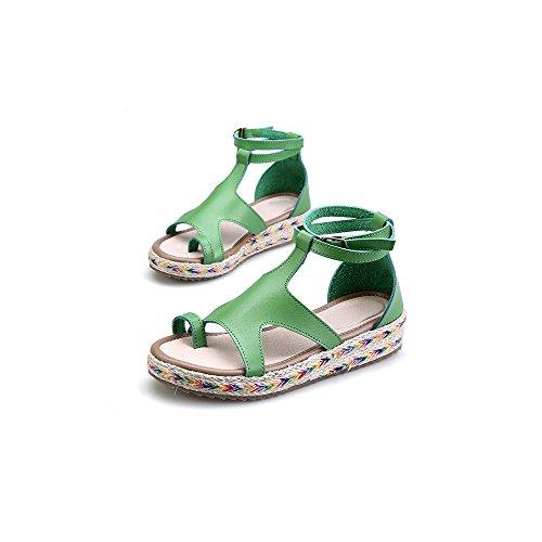 Vert Plate Femme Ochenta Mode Sandales Cheville Plateforme qaw7pBw