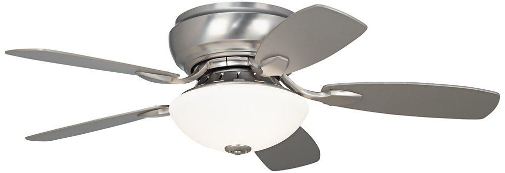 44 casa habitat brushed steel hugger ceiling fan amazon aloadofball Gallery