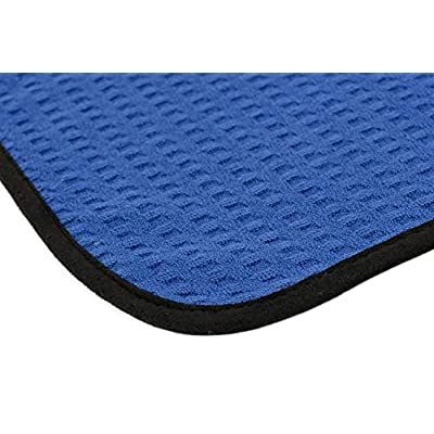 The Rag Company (3-Pack) Dry Me A River Professional Korean 70/30 Microfiber Waffle-Weave Drying & Detailing Towels (16x24, Navy Blue): Automotive