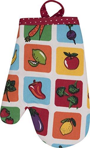 Handstand Kitchen Child's 100% Cotton 'Farmers Market' Oven Mitt -