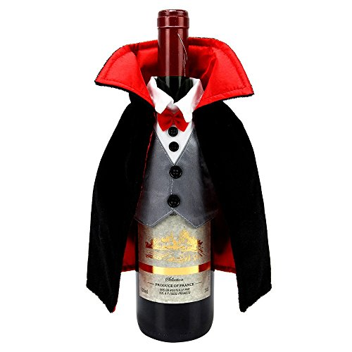 Celebrate Halloween Together Dracula Wine Bottle Cover -