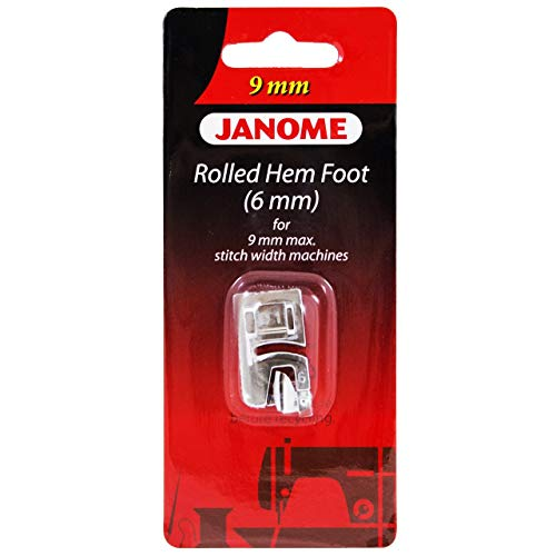 Janome Rolled Hem Foot (6mm) for 9mm Max Stitch Width Machines