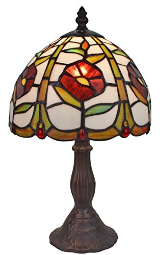 Amora Lighting Tiffany Style AM039TL08 15-inch Floral Mini Table Lamp by Amora Lighting