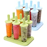 TraderPlus 2 Set 12pcs Reusable Popsicle Molds Ice Cream DIY Pop Molds Maker