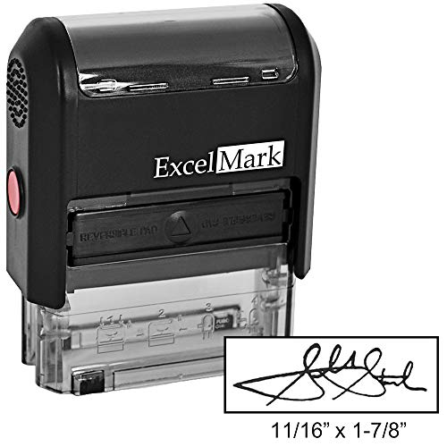 - Custom Signature Stamp - Self Inking - Black Ink - Small