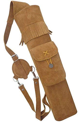 Carol Traditional Back Suede Leather Arrow Quiver AQ118