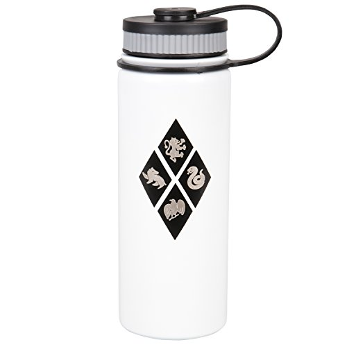 Harry Potter Stainless Steel Water Bottle - With Hogwarts House Crest Design - 550ml by Underground Toys