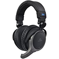 SoundMAGIC BT100 Bluetooth Wireless Full Size Closed-Back Folding Headphones with Microphone (Black)