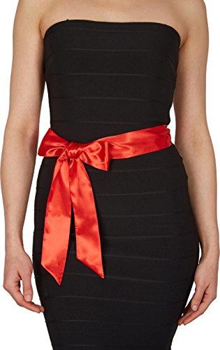 BlackButterfly Bridal Wedding Bridesmaid Satin Sash Belt (Red, 10 CM X 175 - Sash Colored
