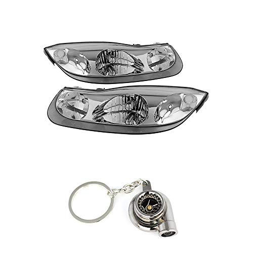 Satun SC series Coupe OEM Style Chrome Headlights+ Free Gift Key Chain Spinning Turbo - Saturn Sc Series Coupe