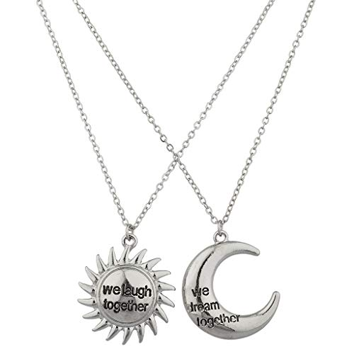 Lux Accessories We Laugh Together We Dream Together Charm Necklace Set -