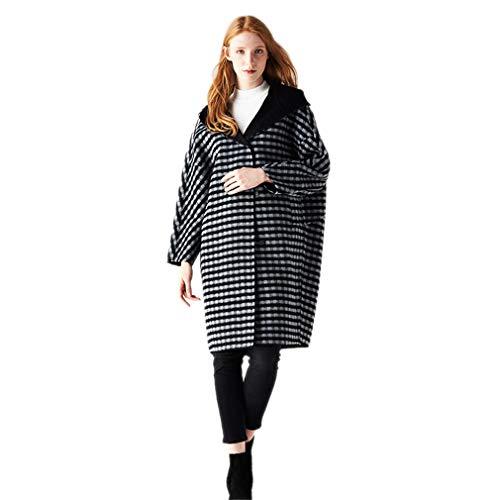 Cashmere Donna Invernali In Sport Cappuccio Campeggio Cappotto Outwear plaid Da escursionismo Per Con Stile giacca Europeo 4tw56Bqxg
