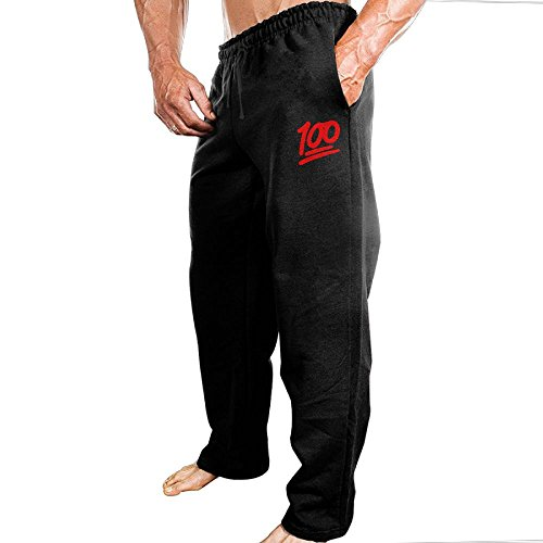 Dingme 100 Emoji Red Logo Men's Sweatpants M Black