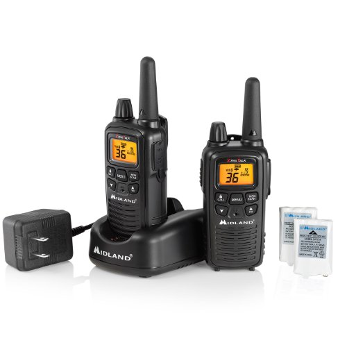 Midland LXT600VP3 36-Channel GMRS with 30-Mile Range, NOAA Weather Alert, Rechargeable Batteries and Charger (Scanner Gmrs Frs)