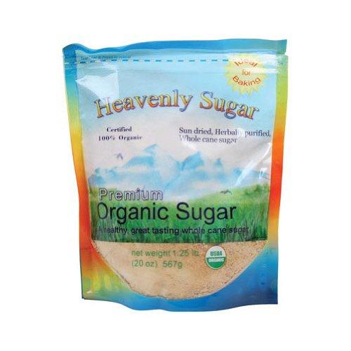 Heavenly Organics Sugar Sun-Dried Herbally Purified Whole Cane, 20-Ounce (Pack of 6)