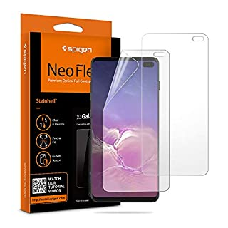Spigen NeoFlex Screen Protector [TPU Film] Designed for Samsung Galaxy S10 Plus (2019)(2 Pack)