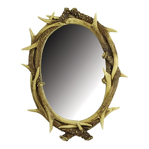 River's Edge Products Deer Antler Wall Mirror