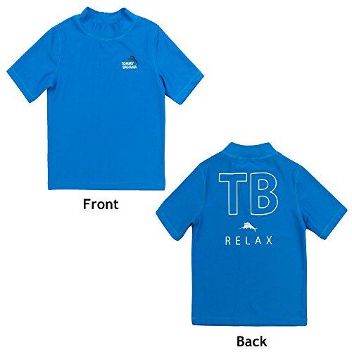 Tommy Bahama Boys Rash Guard Breathable Sun Protection Swim T-Shirt Blue and Beach Bag Small by Tommy Bahama Kids