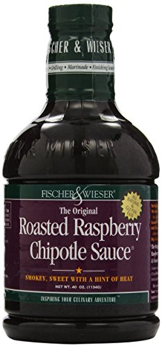 Fischer & Wieser Razzpotle Roasted Raspberry Chipotle Sauce, TWO 40-Ounce Bottles (Sauce Bbq Raspberry)